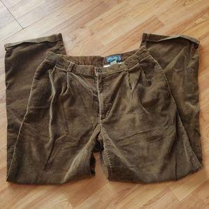 Men's tan courderoy pants